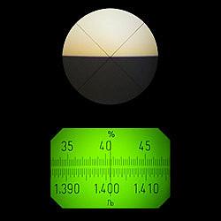 Pembacaan dalam refractometer